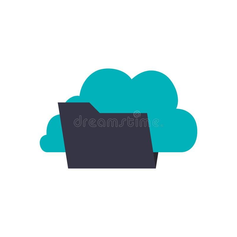 Folder data symbol royalty free illustration
