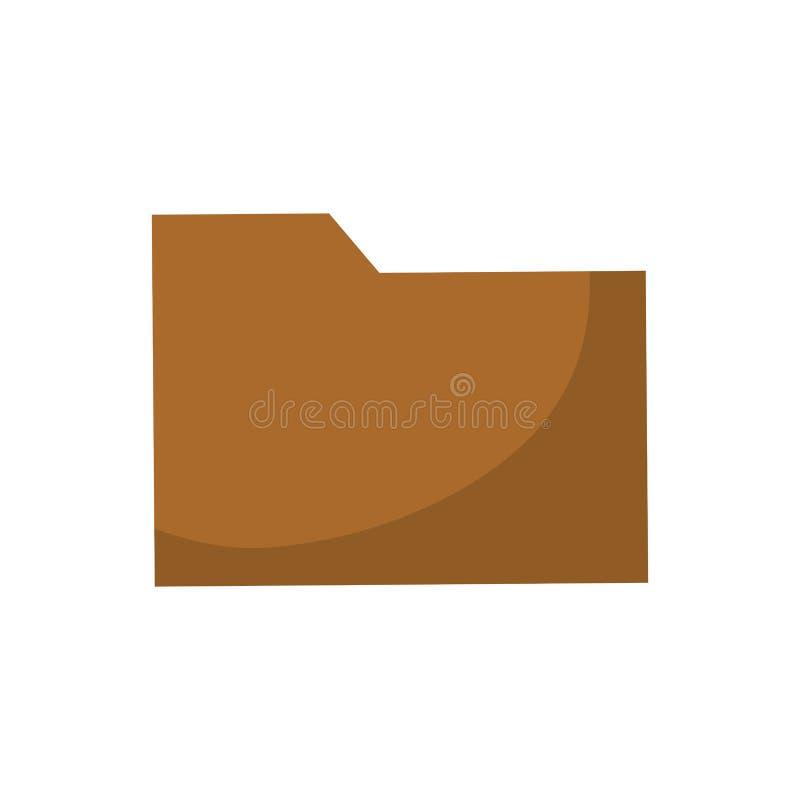 Folder data symbol stock illustration
