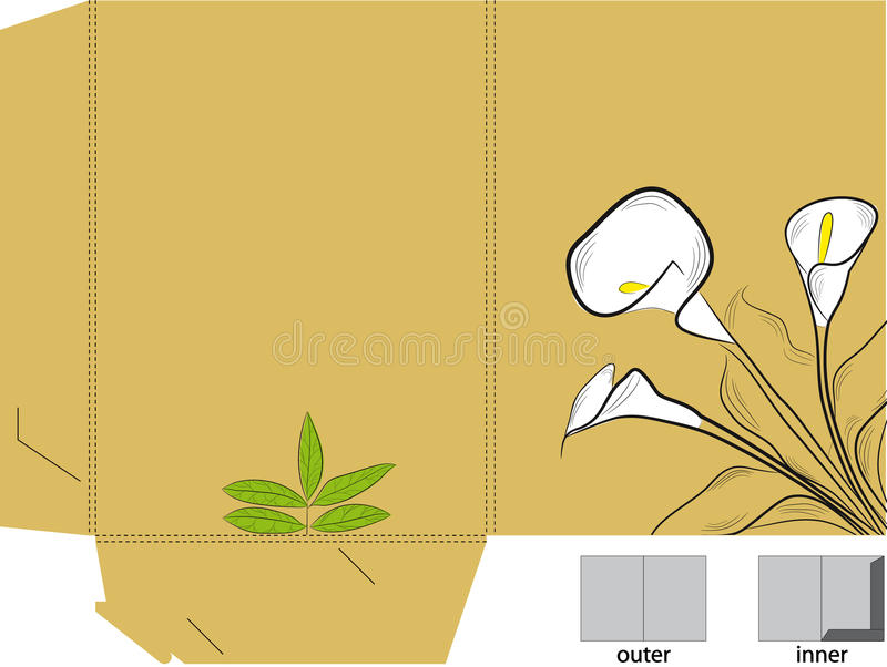 Download Folder With Die Cut (calla Lilies) Stock Vector - Image: 11999814