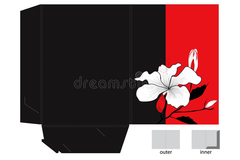 Folder With Die Cut And Decorative Lily Royalty Free Stock Photo