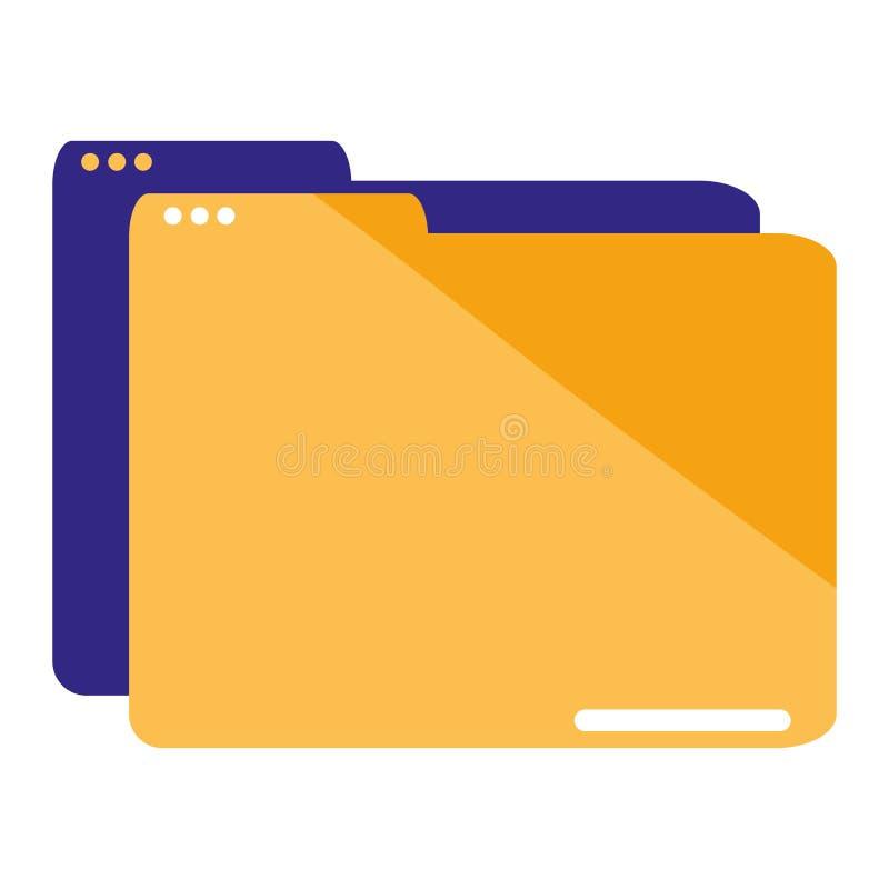 Folder document data icon vector illustration