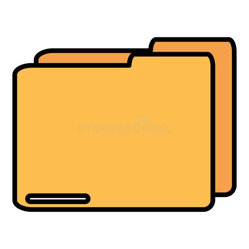 Folder document data icon royalty free illustration