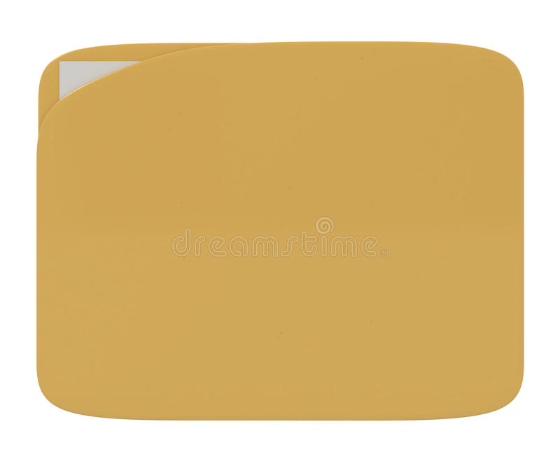 Download Folder With Document Isolated On White Stock Illustration - Image: 15177130