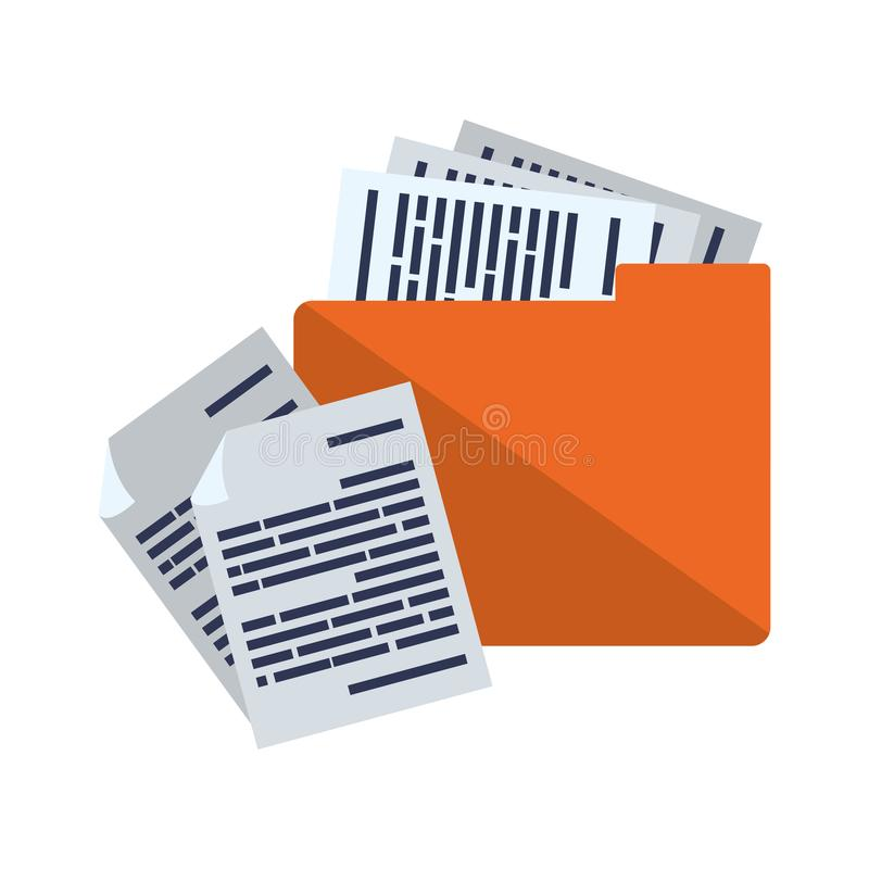 Folder with documents data vector illustration