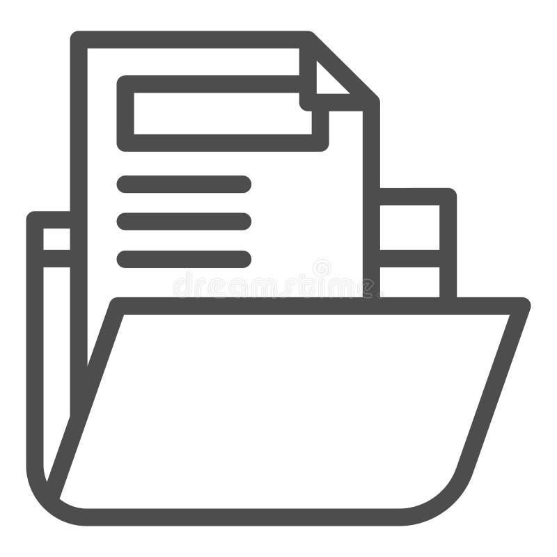 Folder with file line icon. Archive folder vector illustration isolated on white. Computer folder outline style design. Designed for web and app. Eps 10 vector illustration