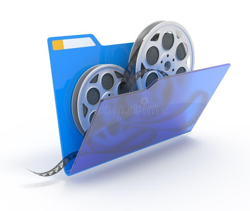 Folder with films. stock illustration