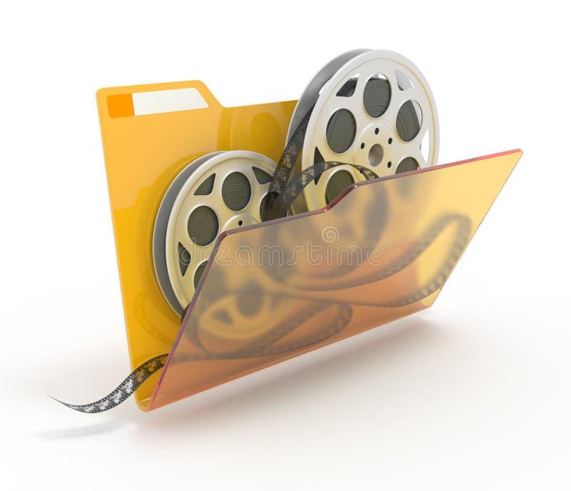 Download Folder with films. stock illustration. Image of clips - 22181977