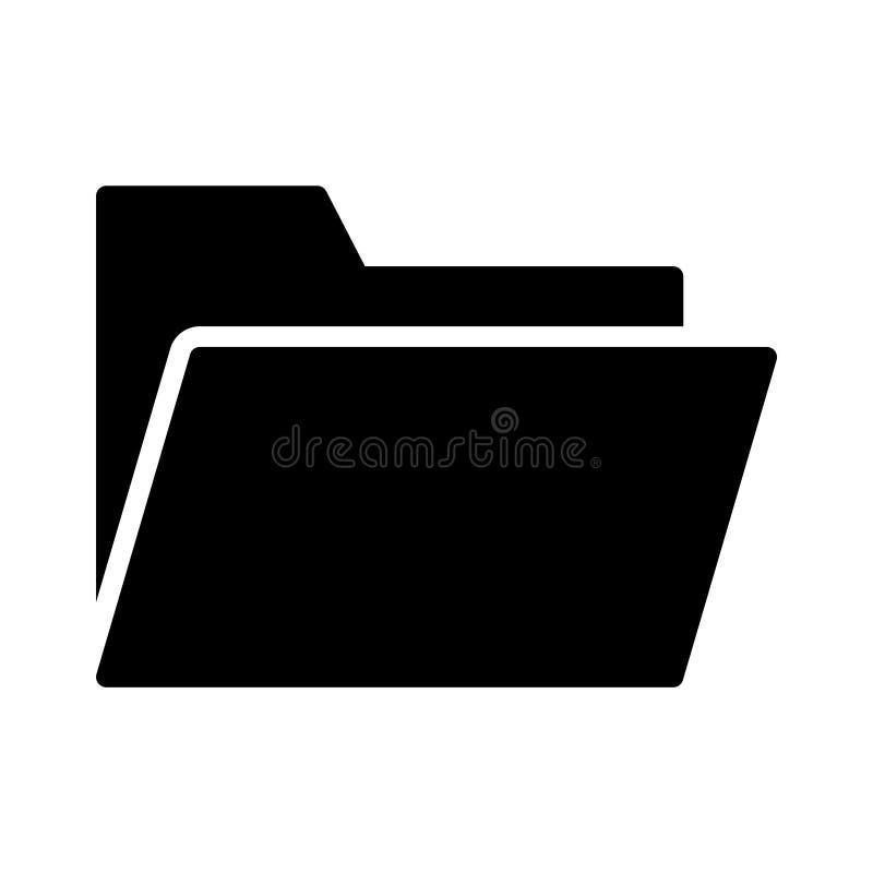 Folder glyph vlak vectorpictogram vector illustratie