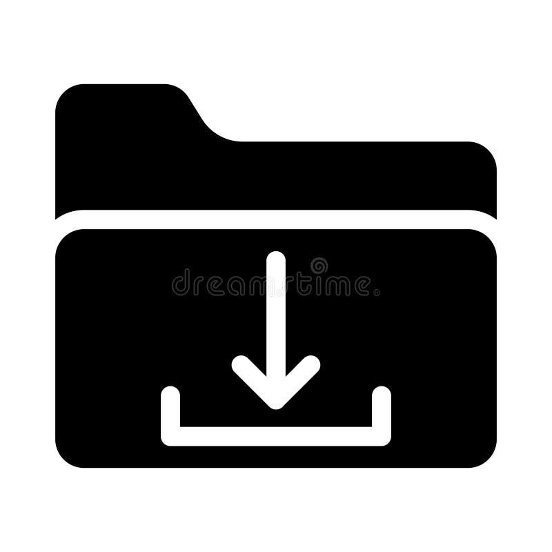 Folder glyph vlak vectorpictogram royalty-vrije illustratie