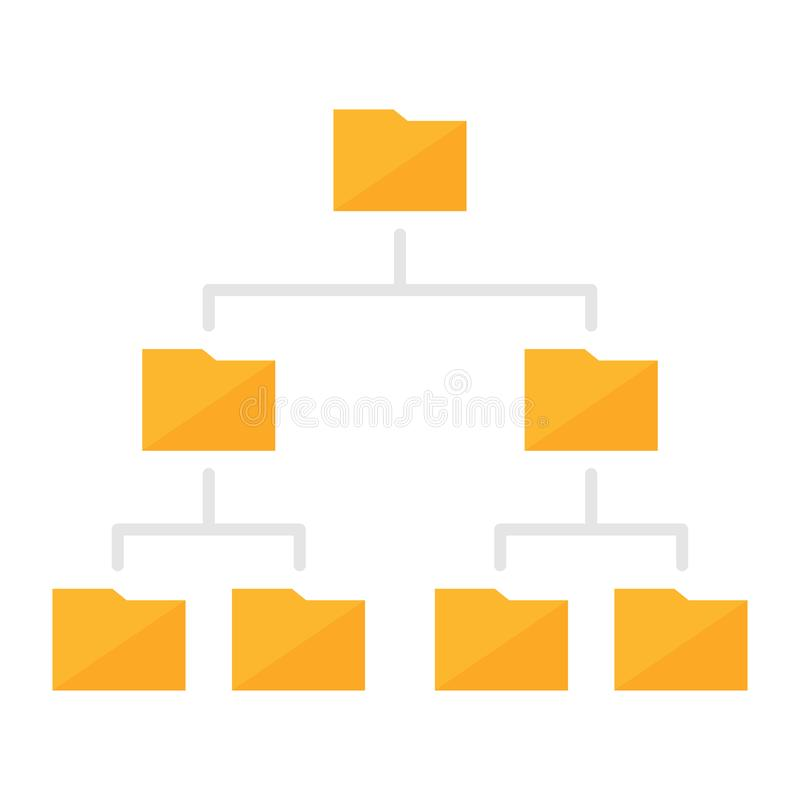 Folder Hierarchy Structure Colored Icon vector illustration