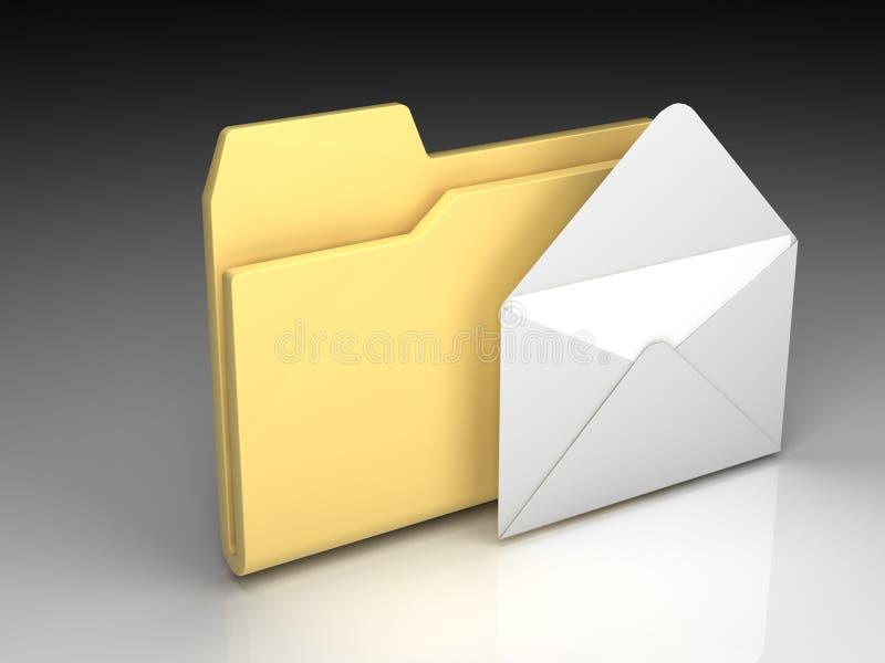 Download Folder icon stock illustration. Illustration of envelope - 11046864