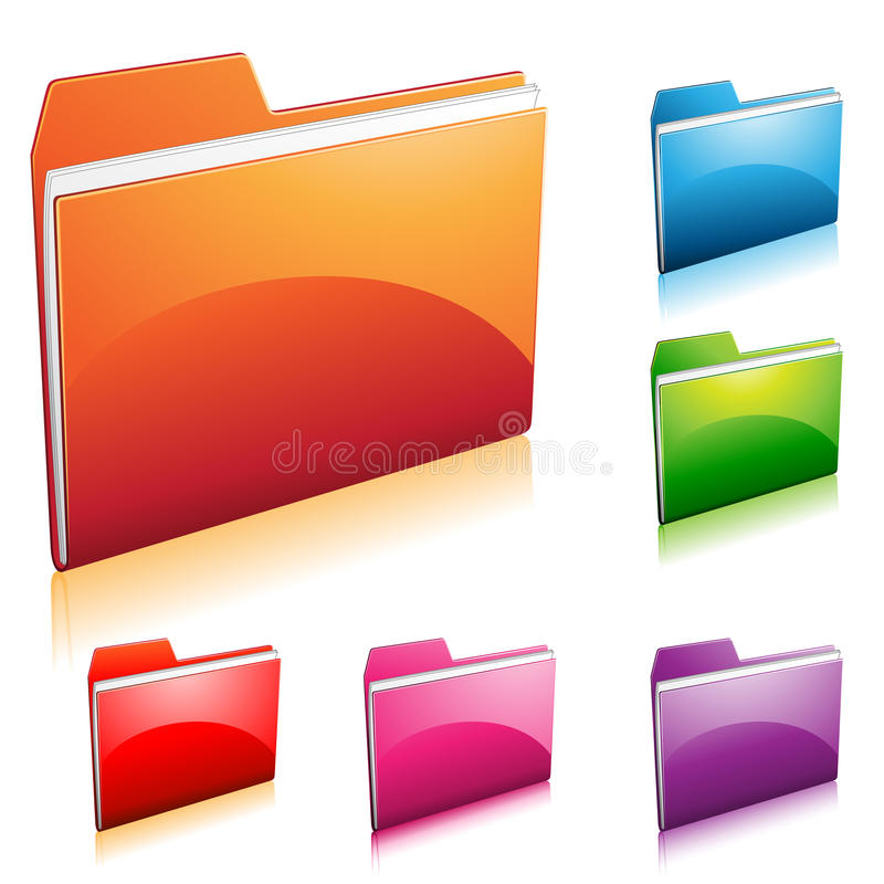 Download Folder Icon stock vector. Image of file, shadow, reflected - 16211936