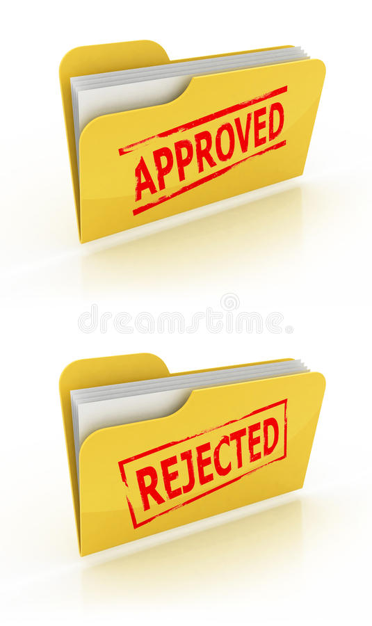 Folder Icon For Approved / Rejected Documents Royalty Free Stock Photography