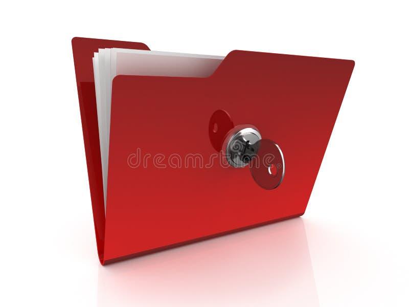 Folder icon with key