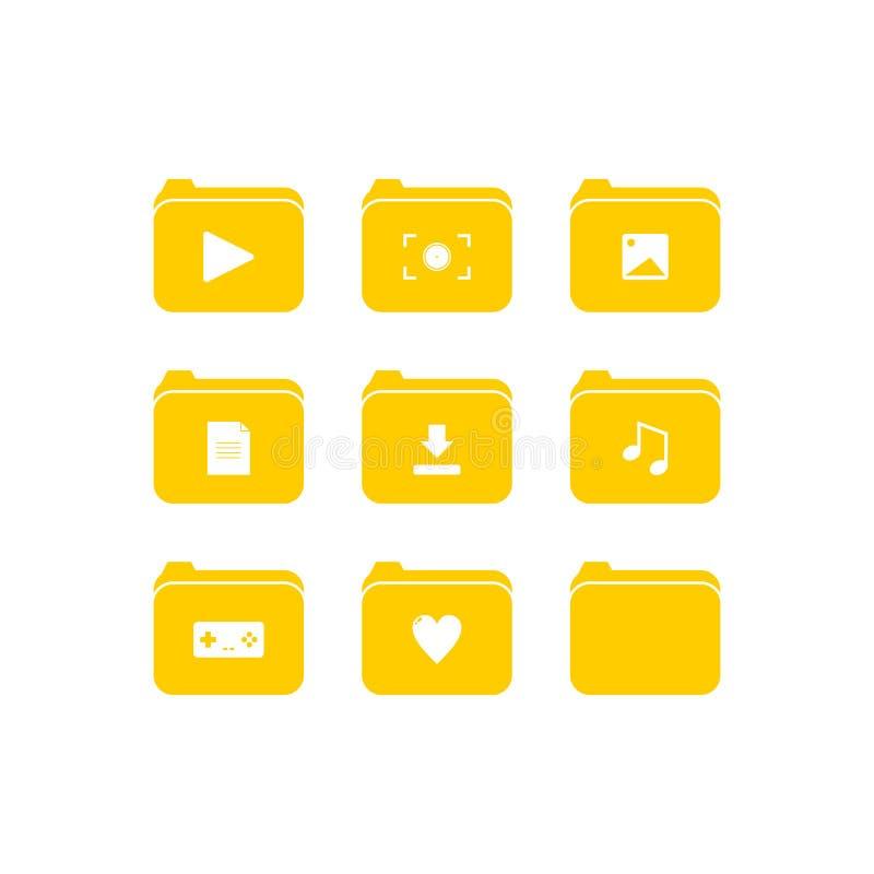 Folder Icon with Orange Color - Vector Icon vector illustration