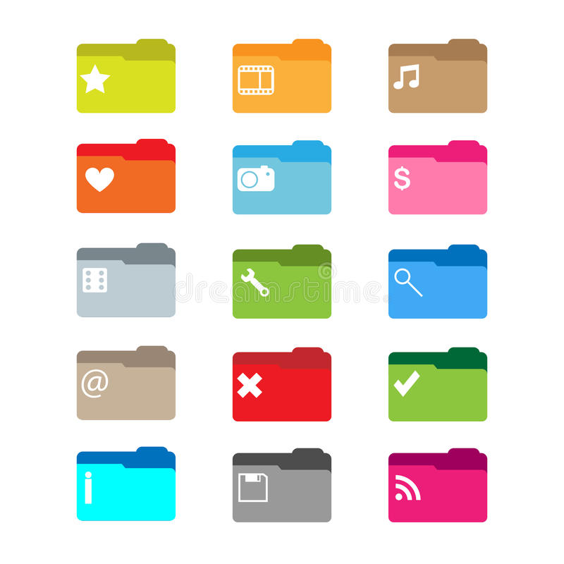 Folder icons royalty free illustration