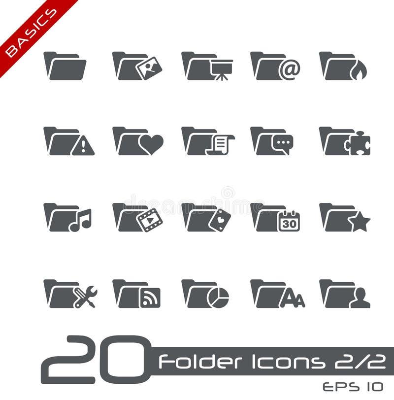 Download Folder Icons - 2 Of 2 // Basics Stock Vector - Image: 24942816