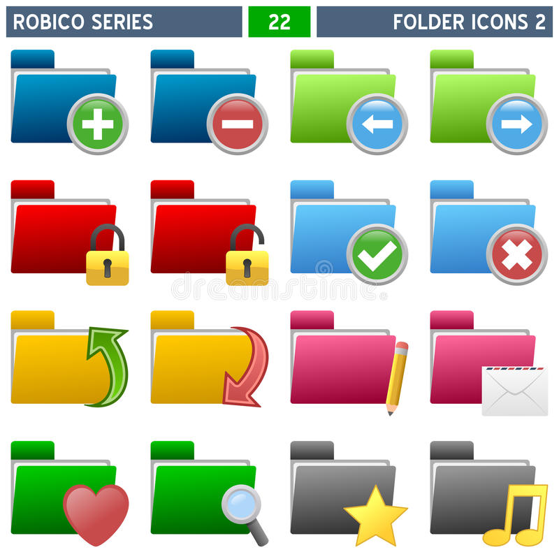 Download Folder Icons [2] - Robico Series Stock Vector - Image: 13996447