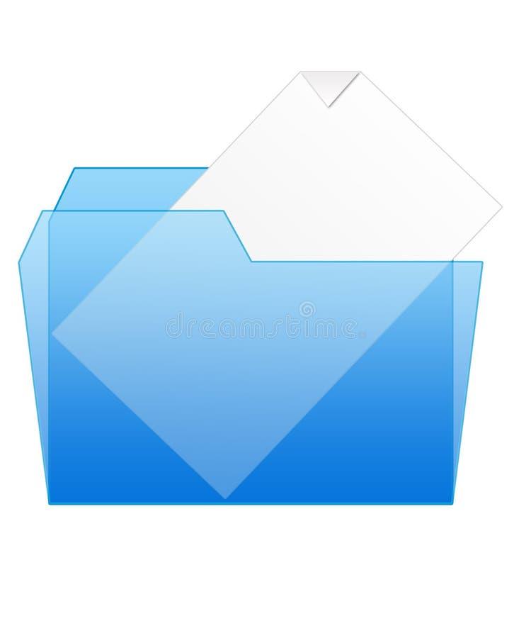 Folder icons. One shiny colored folder icon royalty free illustration