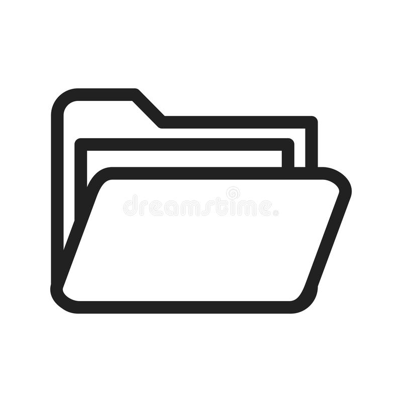 Folder III. Folder, file, web icon vector image.Can also be used for web interface. Suitable for mobile apps, web apps and print media vector illustration