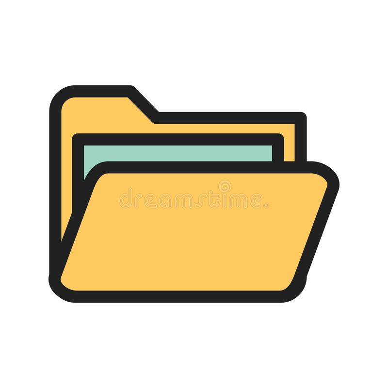 Folder III. Folder, file, web icon vector image.Can also be used for web interface. Suitable for mobile apps, web apps and print media royalty free illustration