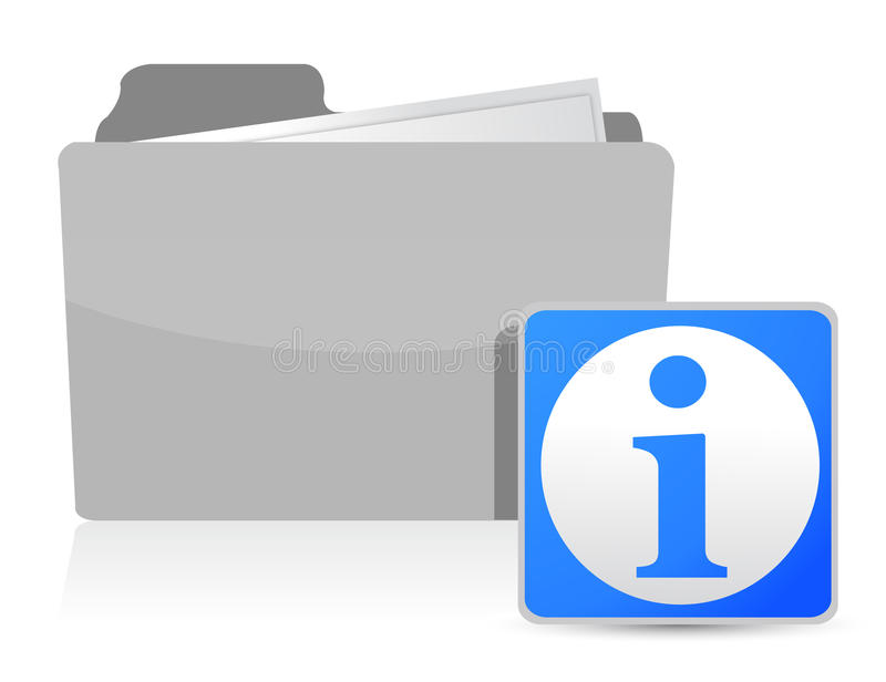 Download Folder And Info Illustration Design Stock Image - Image: 27277161