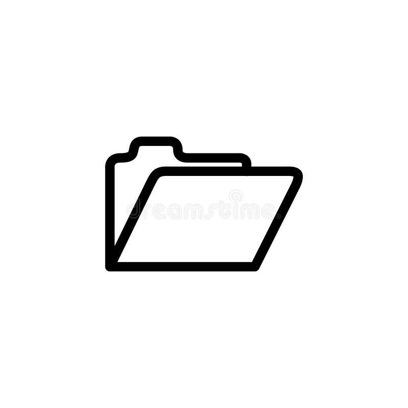 Folder Line Icon In Flat Style Vector For App, UI, Websites. Black Icon Vector Illustration vector illustration