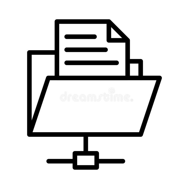 Folder thin line vector  icon vector illustration