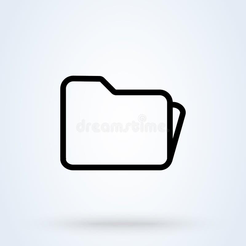 Folder line Simple vector modern icon design illustration vector illustration