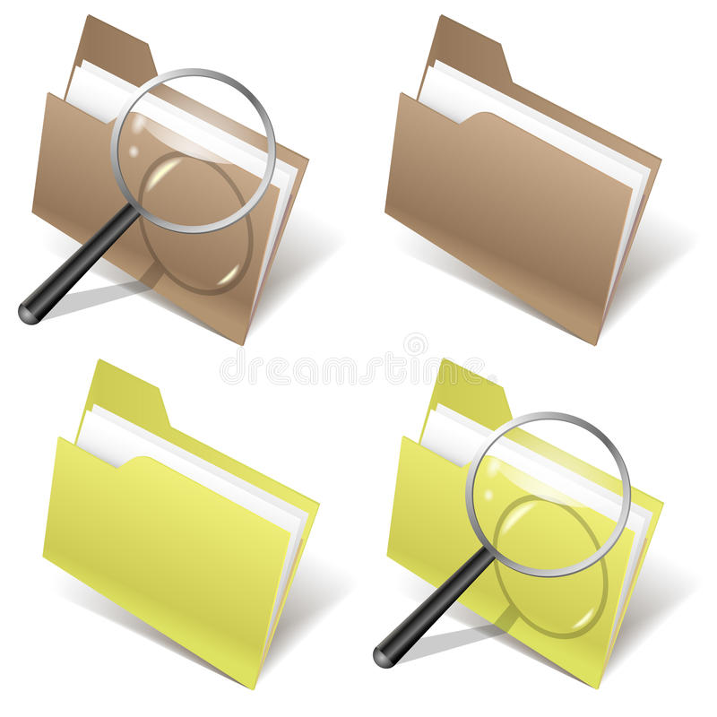 Folder And Magnifier Royalty Free Stock Image