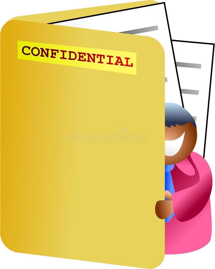 Folder Man Royalty Free Stock Image