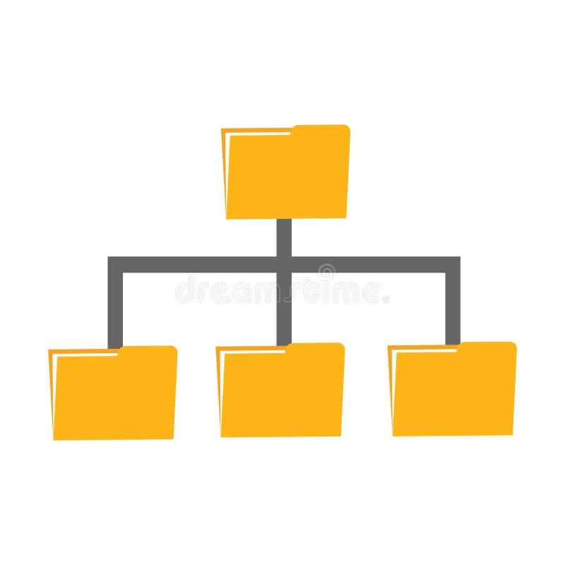 Folder management. Folder sharing data or file backup concept stock illustration