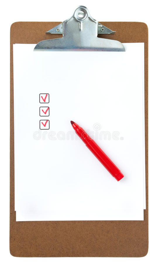 Folder Of Noted Planning Royalty Free Stock Images