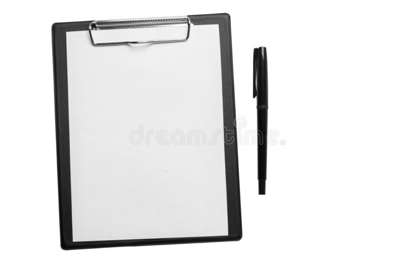 Folder with paper, see others in my portfolio.  stock photo