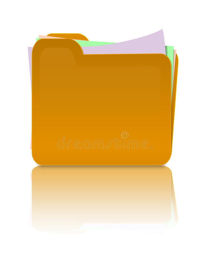 Download Folder with papers stock illustration. Image of archives - 15267711