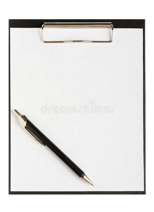 Folder For Papers With Pen Stock Image