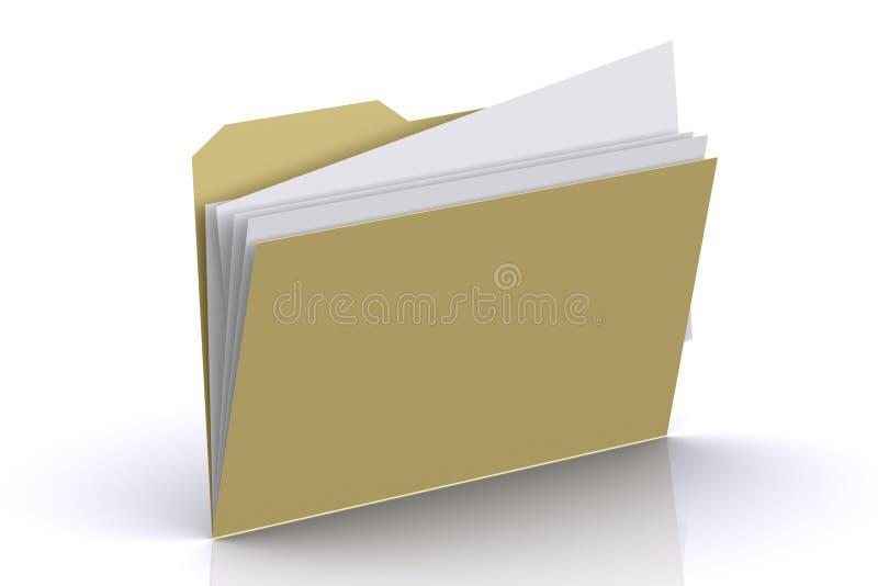 folder, papiery 3 d royalty ilustracja