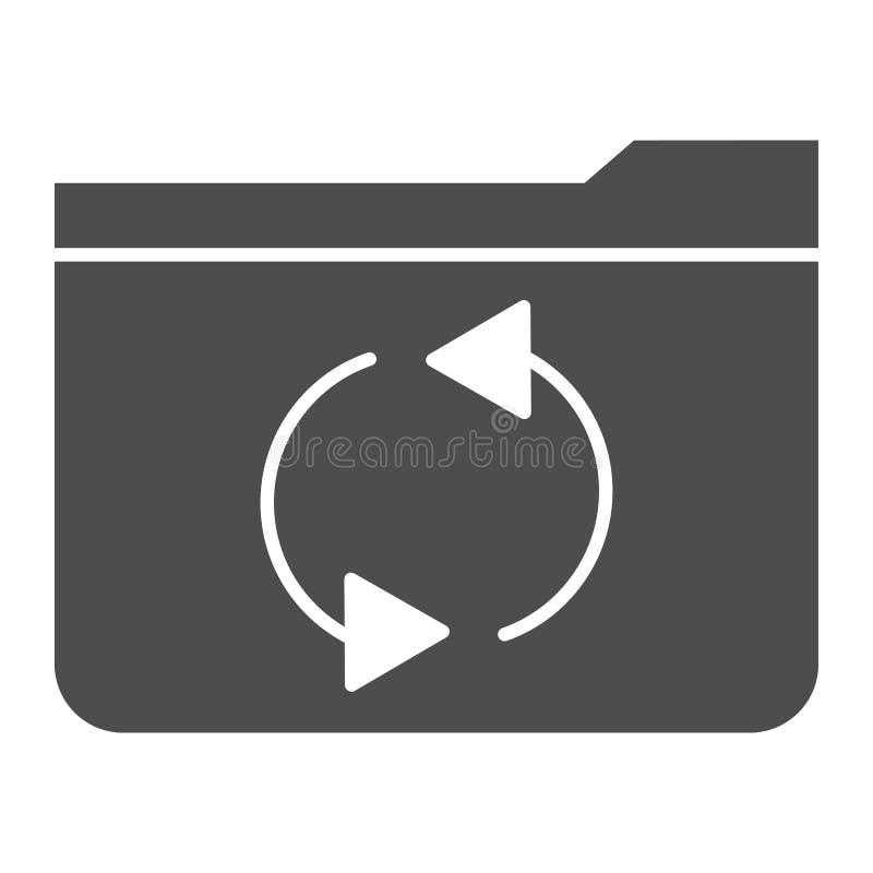 Folder refresh solid icon. Update folder vector illustration isolated on white. Computer folder glyph style design. Designed for web and app. Eps 10 vector illustration