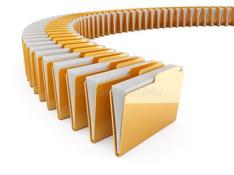 Folder row stock illustration