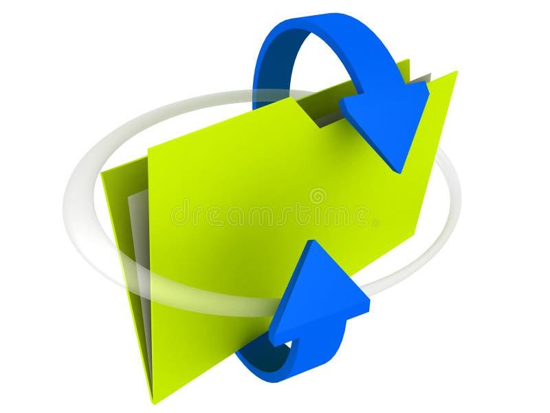 Folder: Sharing. 3D Illustration of a Sharing Folder