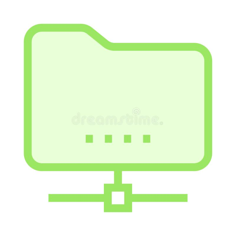 Folder sharing color line icon stock illustration