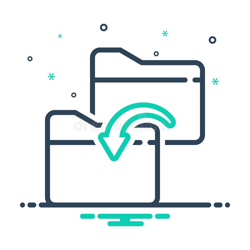 Black mix icon for Folder sharing, copy and dublicate. Black mix icon for Folder sharing, network, security, logo, folder,  copy and dublicate vector illustration
