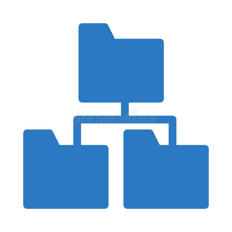 Folder sharing glyph color flat vector icon royalty free illustration