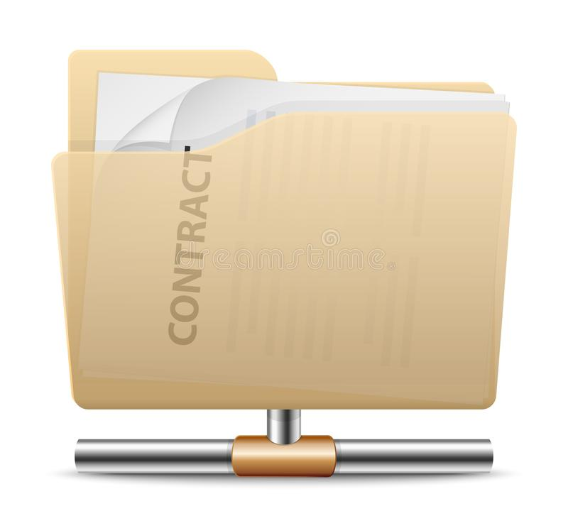Folder sharing icon. Vector illustration royalty free illustration