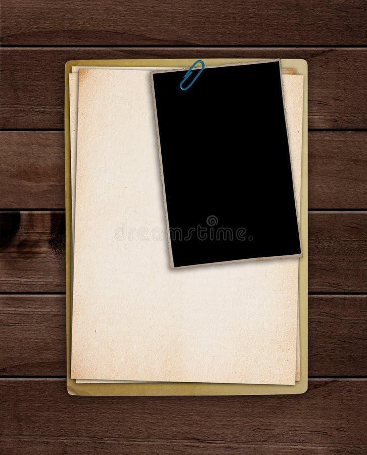 folder stara obrazy stock