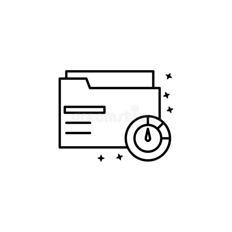 Folder storage data icon. Simple line, outline vector of project management icons for ui and ux, website or mobile application vector illustration