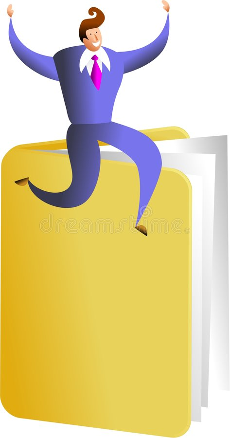 Download Folder success stock illustration. Illustration of adult - 1255761