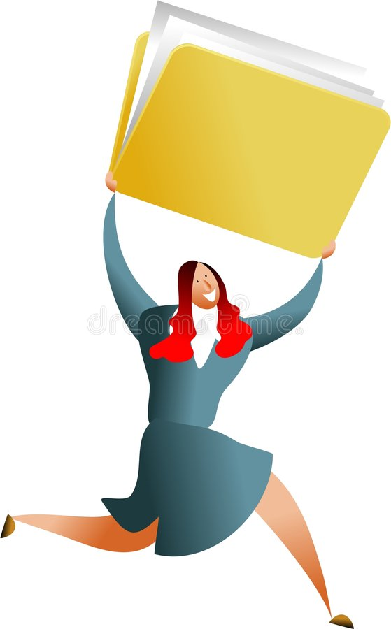 Folder Success Stock Images