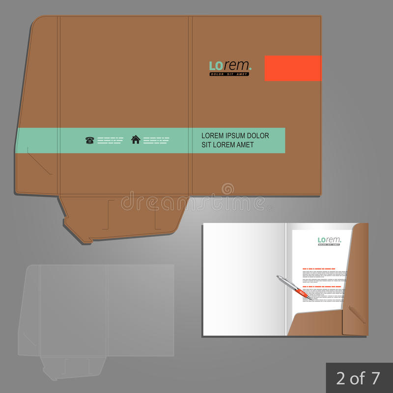 Folder template design vector illustration