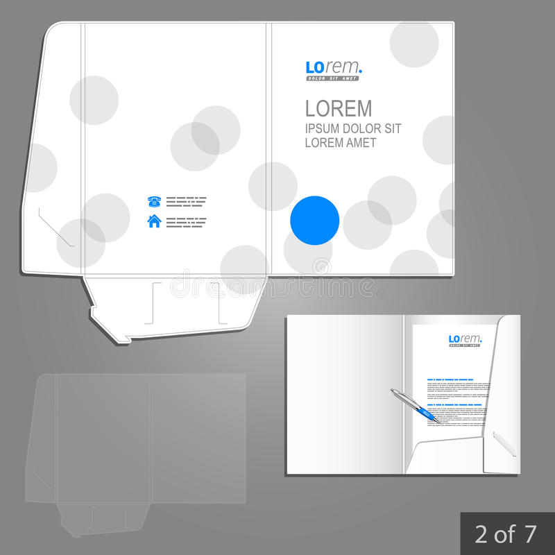 Folder template design royalty free illustration